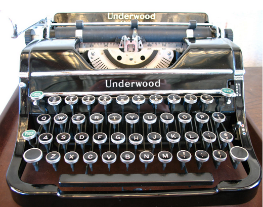 Old-time mechanical Underwood typewriter
